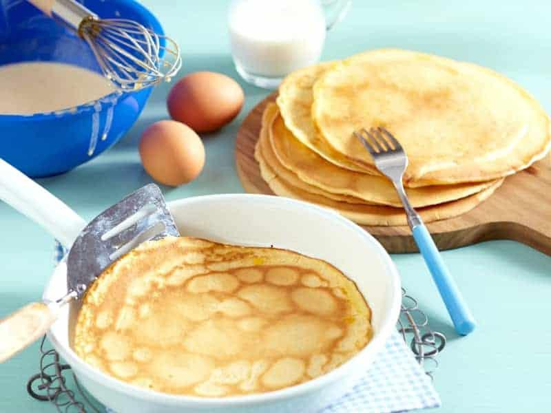 Pfannkuchen mit Mineralwasser Rezept