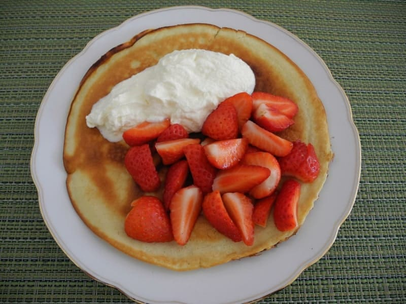 Pfannkuchenteig Rezepte Pfannkuchen mit Sahne