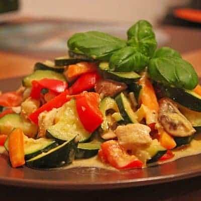 mediterrane Gemüsepfanne Rezept mit saurer sahne