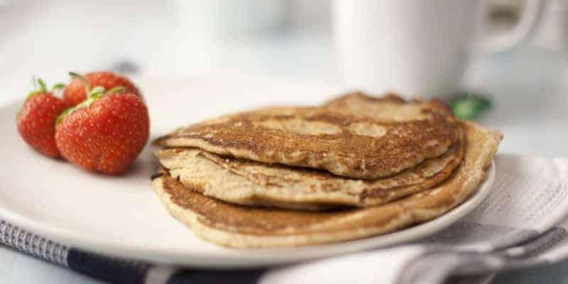 vegane Pfannkuchen mit Backpulver