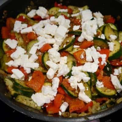 italienische Gemüsepfanne mit feta selber zubereiten