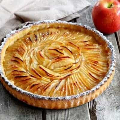 Apfelkuchen backen Tarte aux Pommes