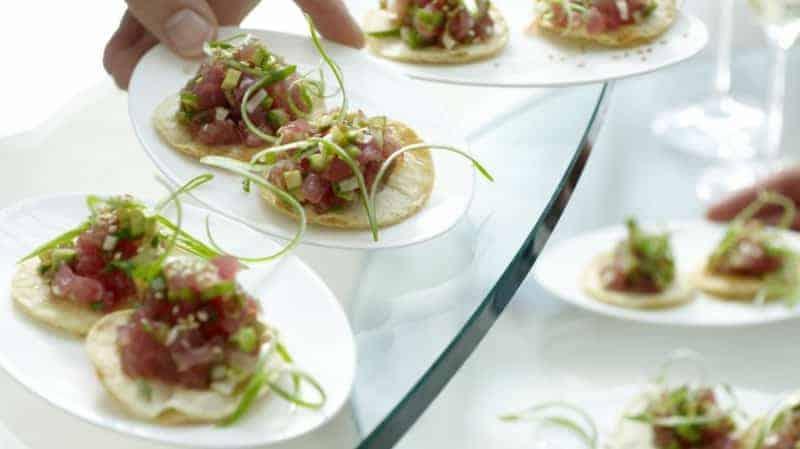 leckere Partysnacks knusprige Tortillas
