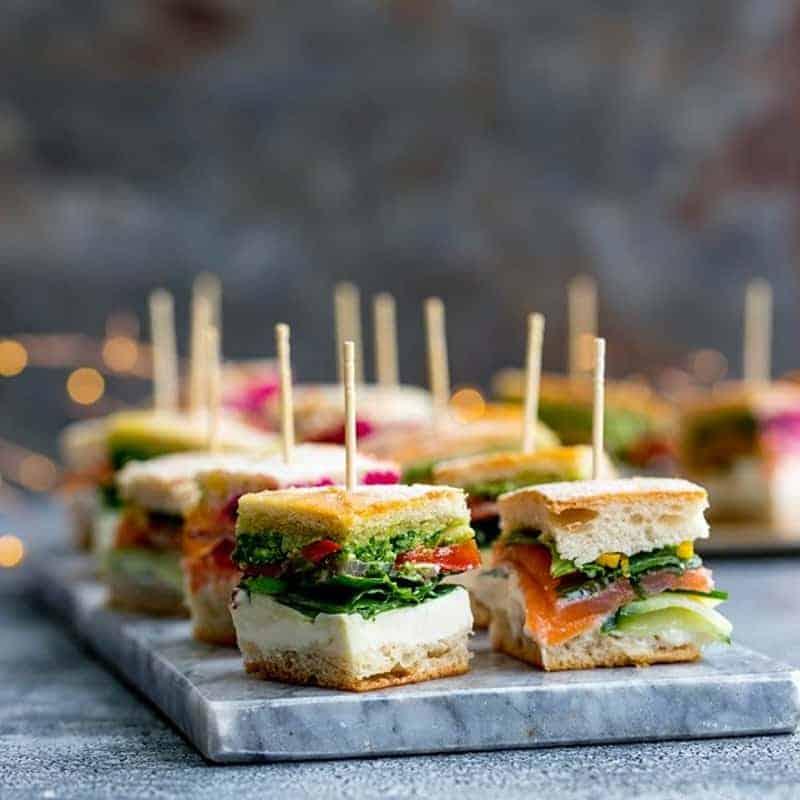 Party Häppchen Sandwiches