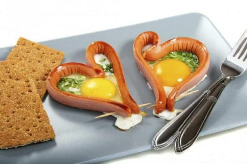 Eier kochen zum Valentinstag