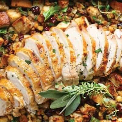 schönes Abendessen gebratenes Putenfleisch