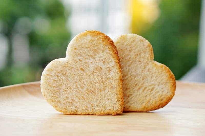das perfekte Frühstück Valentinstag Toast in Herzform