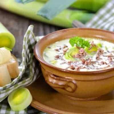 Käse Lauch Suppe selber zubereiten