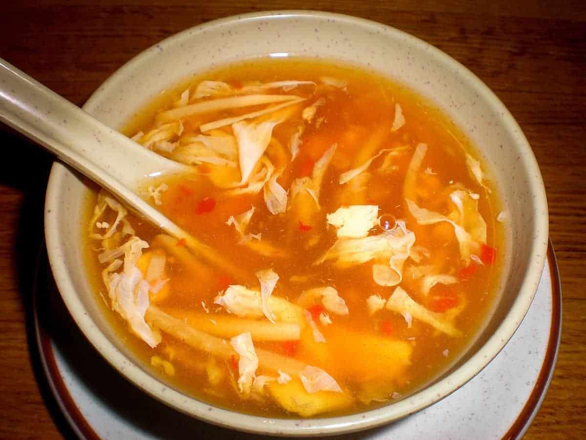 Sauer scharf Suppe nach japanischem Originalrezept