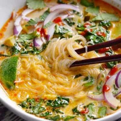 thai suppe mit kokosmilch