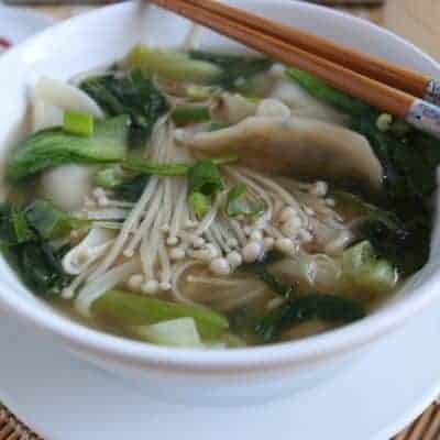 Wan tan Suppe kochen Rezept japanisch