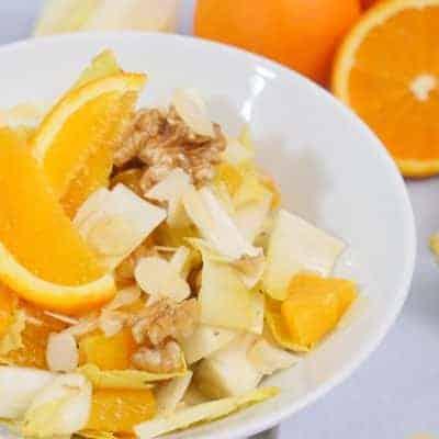 Chicorèe Salat mit Mandarinen