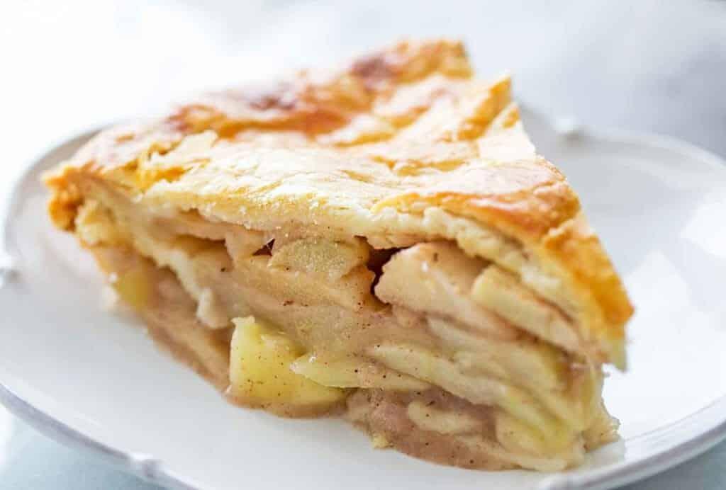 Apfelkuchen ohne Backpulver mit hausgemachter Kuchenkruste