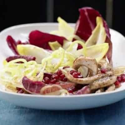 orientalischer bunter Salat mit Radicchio