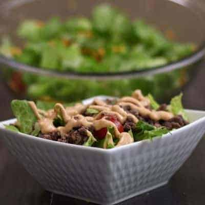 low carb Big Mac Salat selber zubereiten