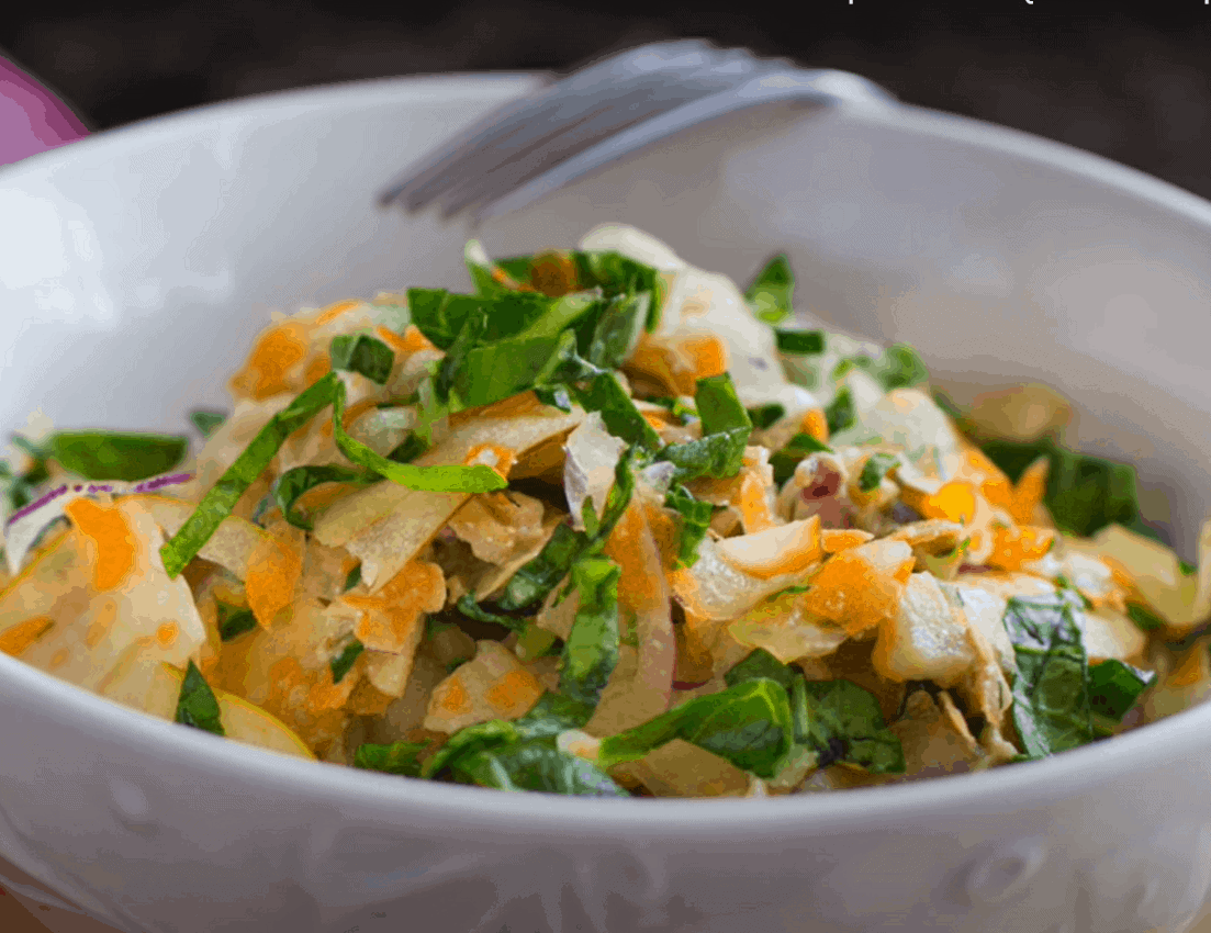 Pak Choi Salat mit Sojasoße und Sesamöl