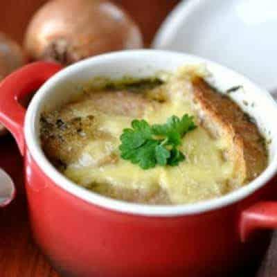 französische Suppe Zwiebelsuppe