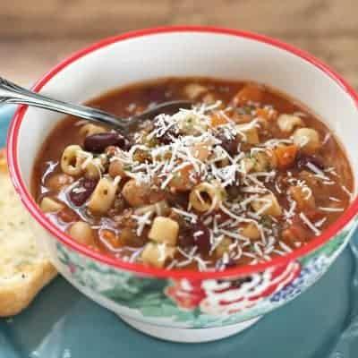 Suppe schnell italienische Nudelsuppe