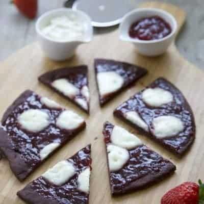 Pizza Schokolade Serviervorschlag