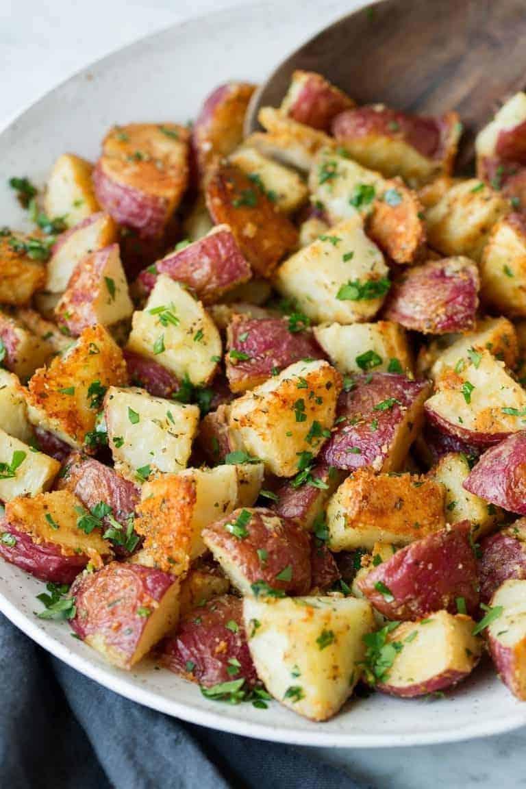 Bratkartoffeln mit Parmesan und Kräutern