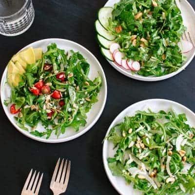 Grüner Salat mit Rucola