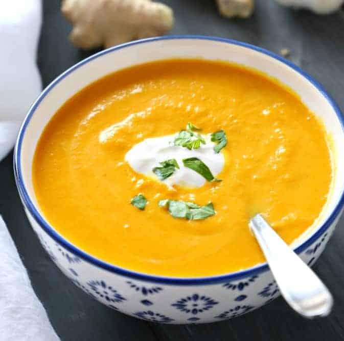 Möhren Ingwer Suppe – 4 Portionen – grandios