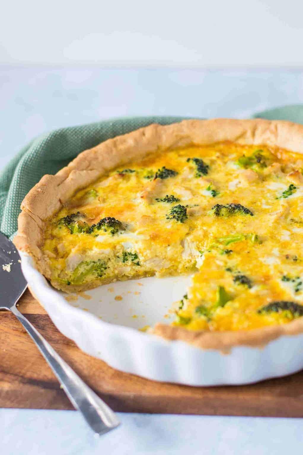 Puten-Broccoli-Quiche