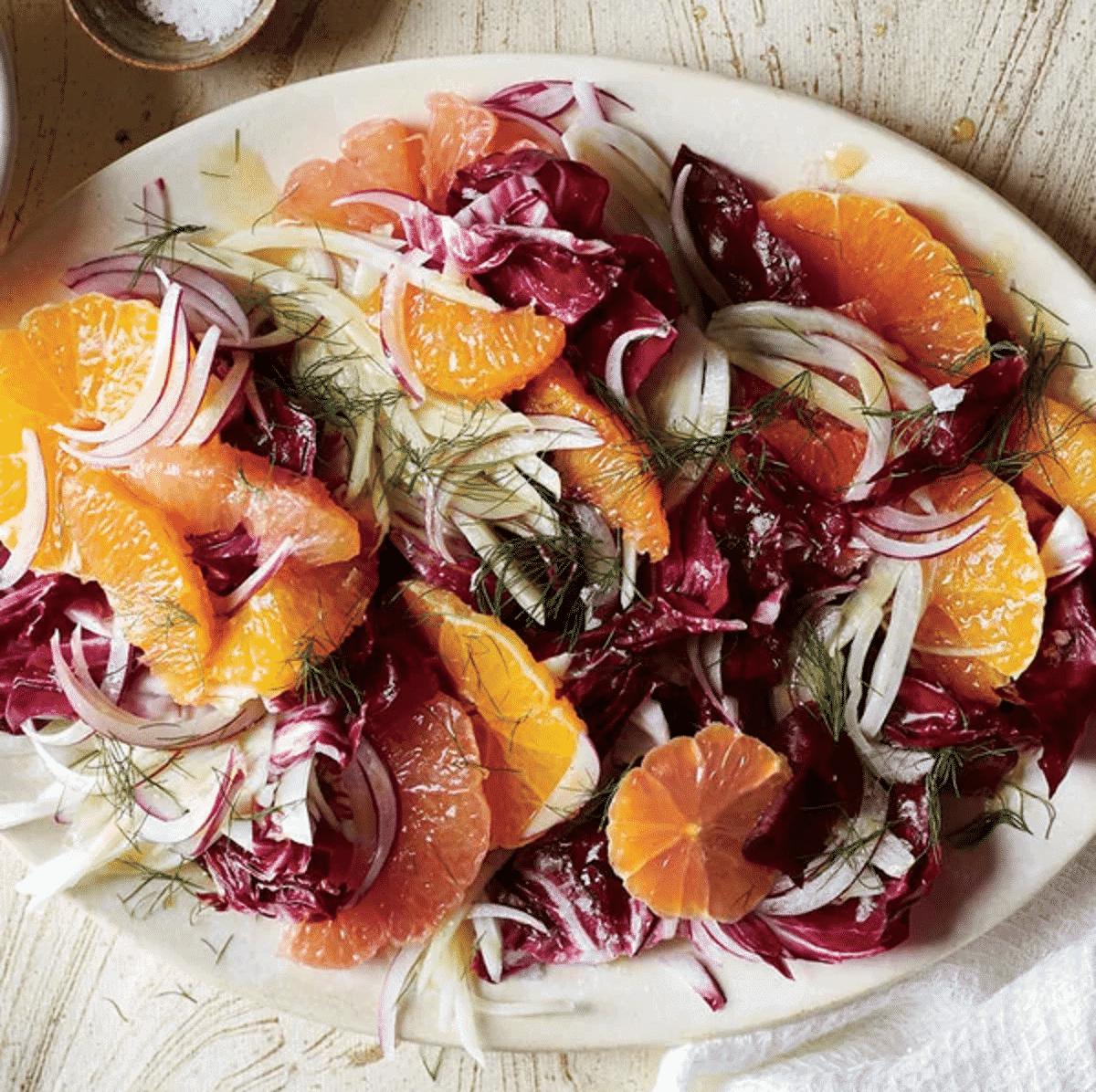 Radicchio Salat mit Fenchel und Citrus