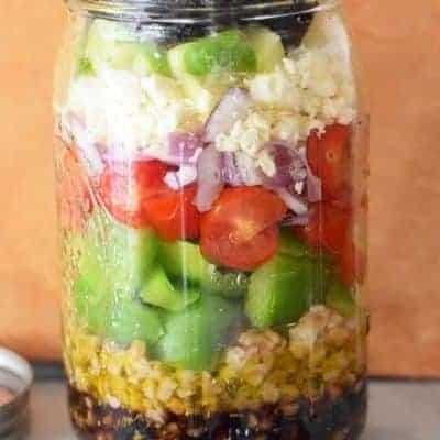Salat im Glas griechisch