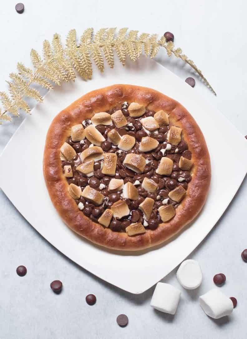 Schoko Pizza mit Marshmallows: einfach genial