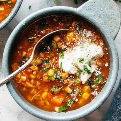 Sommer Suppe mit Gemüse