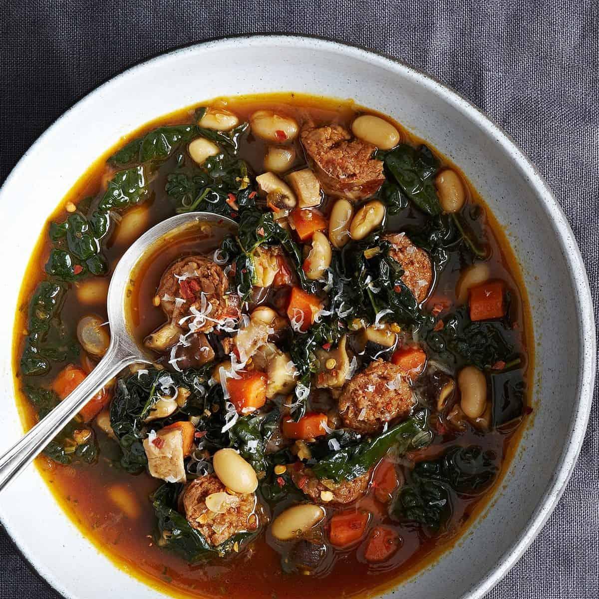 Deftige Suppe mit Grünkohl einfach genial