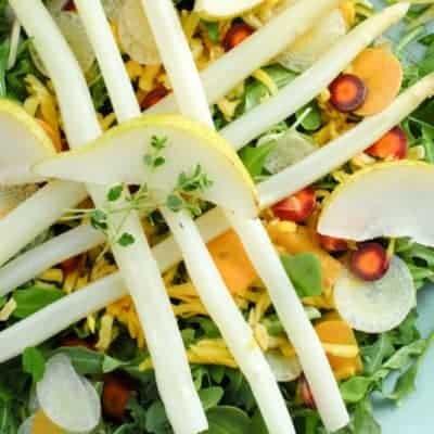 Spargel Salat mit Rucola