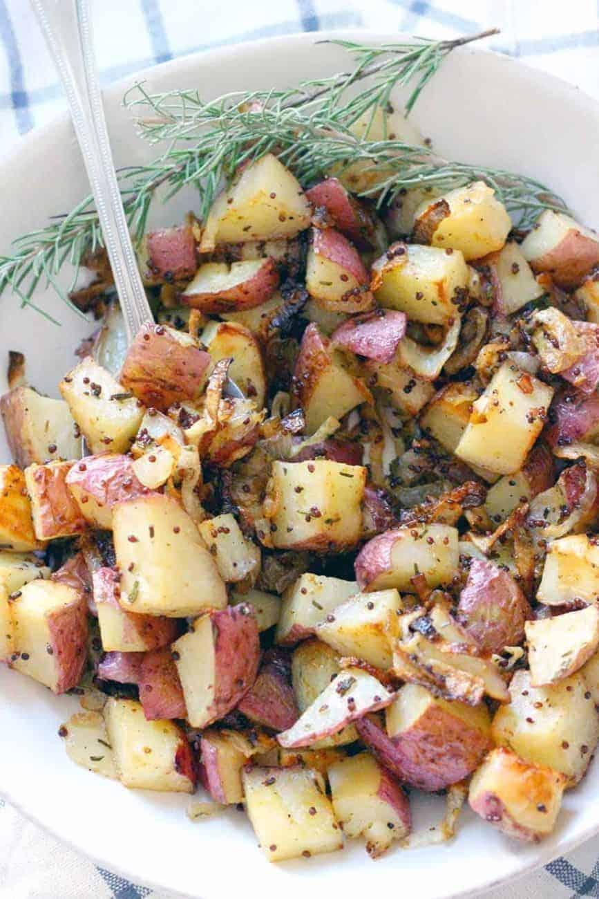Rosmarinkartoffeln mit körnigem Senf: lecker