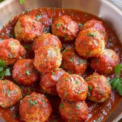 italienische Frikadellen aus Putenfleisch