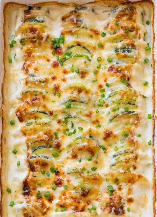 Kartoffelauflauf mit Zucchini – kräftig und einladend!