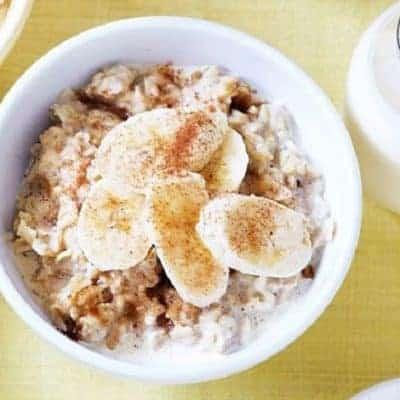 Porridge mit Bananen