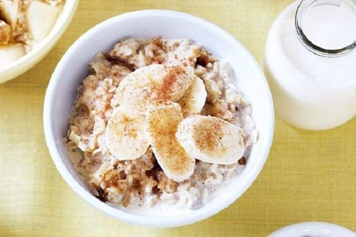 Porridge-toller Haferbrei mit Bananen