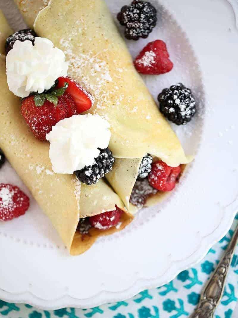 Crêpes Rezept mit Erdbeeren – einfach brilliant