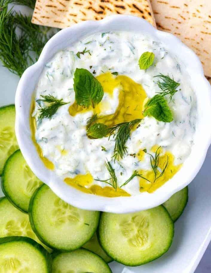 Zaziki-die perfekte, griechische Joghurt-Soße