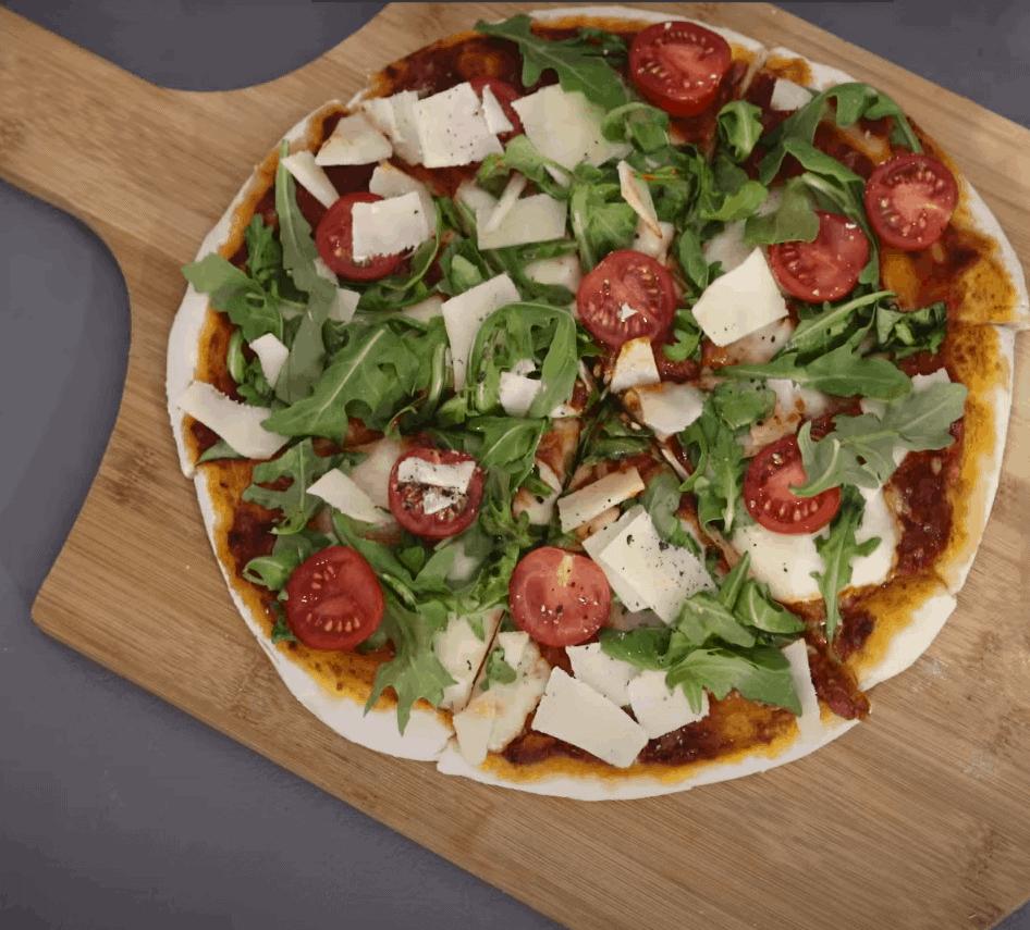 Gesunde Pizza mit Vollkornteig tolle 20 Min