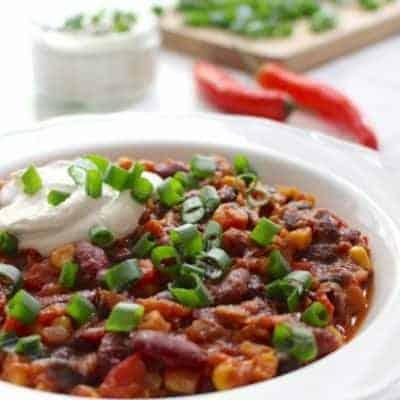 Chili sin Carne für Vegetarier und Veganer