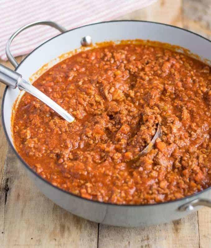 Köstliche Bolognese Soße selber kochen