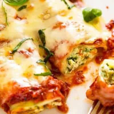 Cannelloni mit Spinat und Ricotta-
