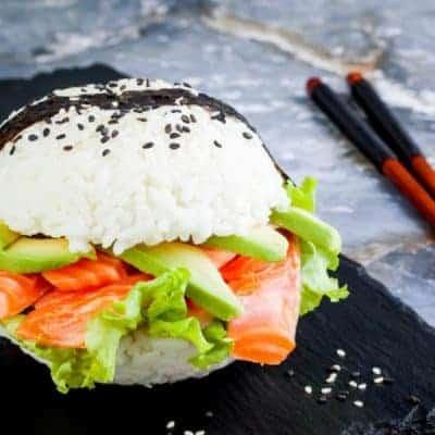 Burger machen Rezept für Sushi Burger