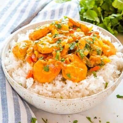 Curry mit Shrimps