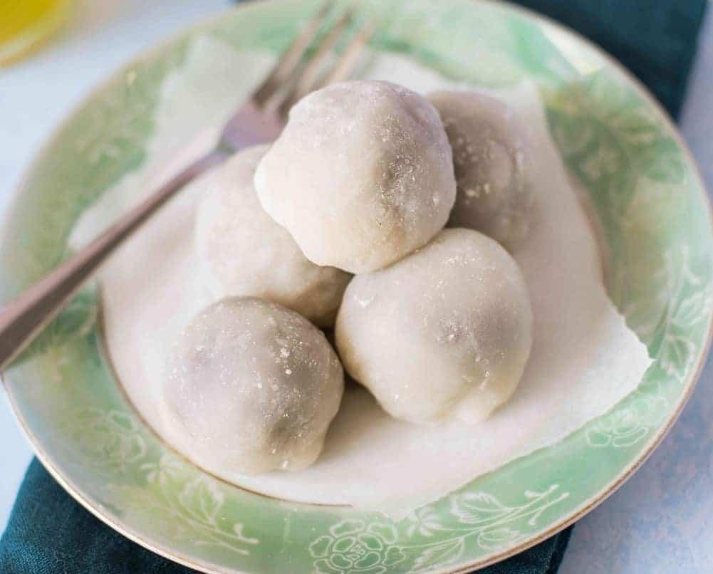 Mochi, die japanischen Reis-Süßigkeiten