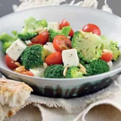 Broccoli Salat mit Feta