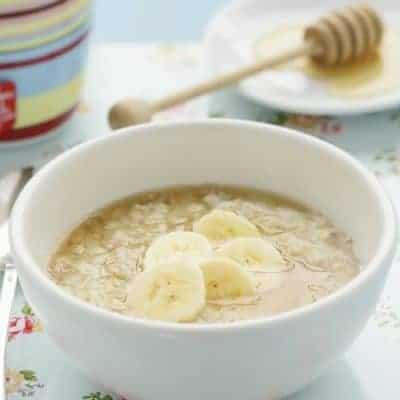 Haferkleie Porridge Serviervorschlag