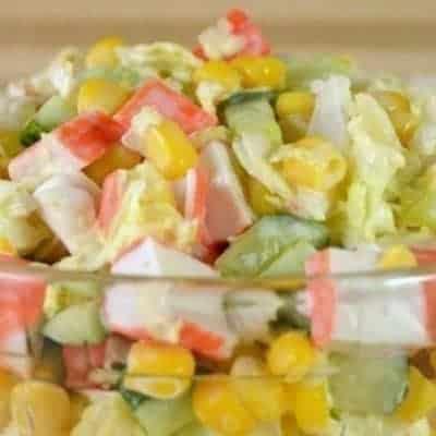 Surimi Salat selber machen